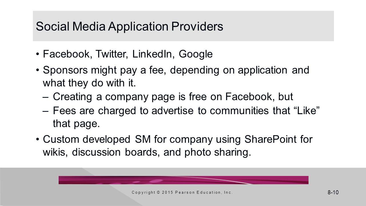 Social Media Application Providers