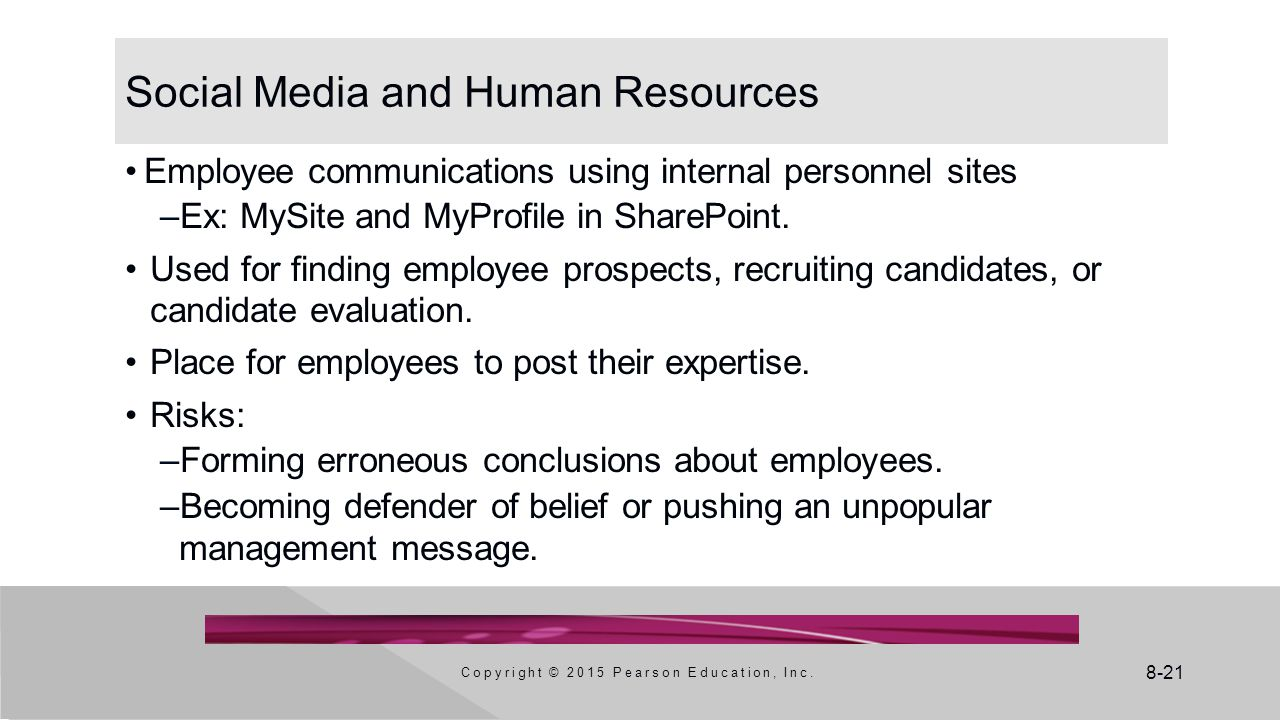Social Media and Human Resources