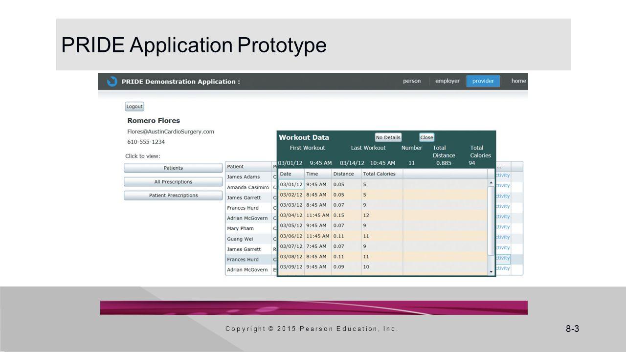 PRIDE Application Prototype