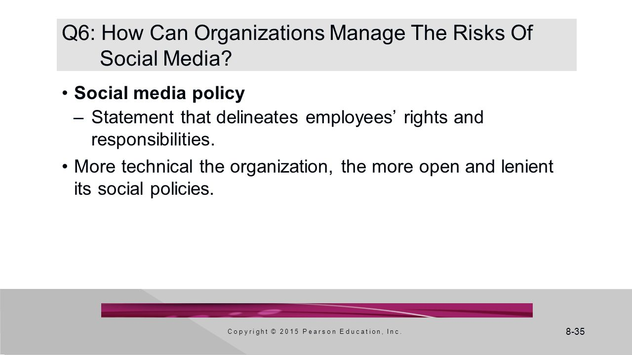 Q6: How Can Organizations Manage The Risks Of Social Media