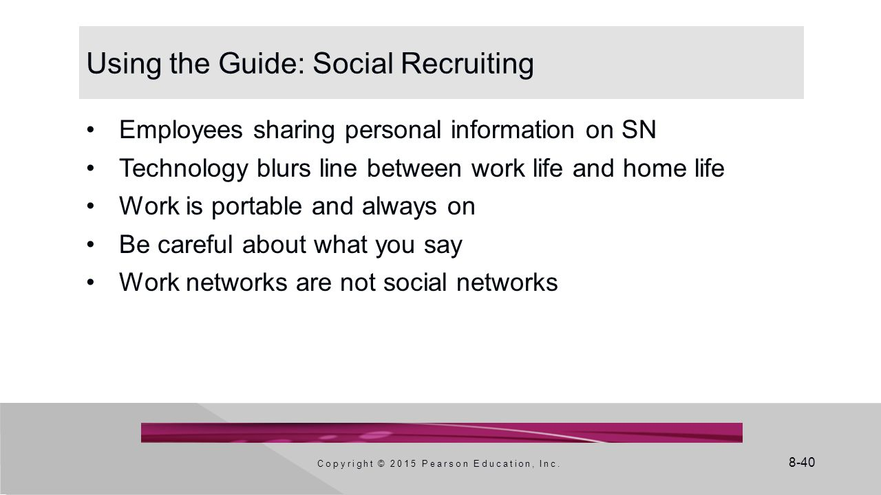 Using the Guide: Social Recruiting