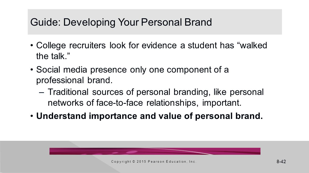 Guide: Developing Your Personal Brand