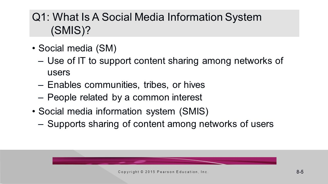 Q1: What Is A Social Media Information System (SMIS)
