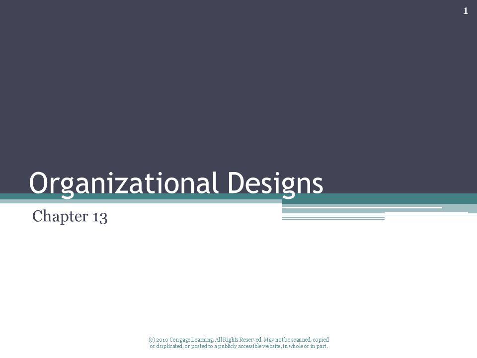 Organizational Designs