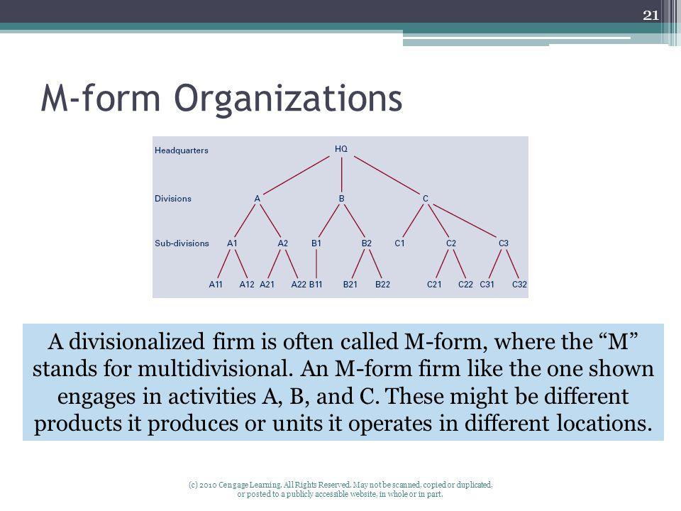 M-form Organizations