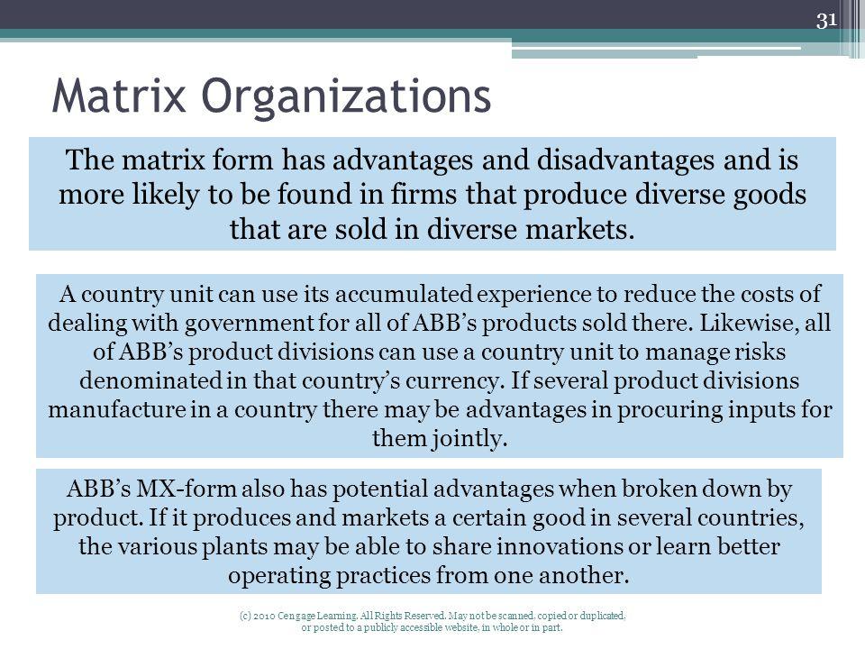 Matrix Organizations