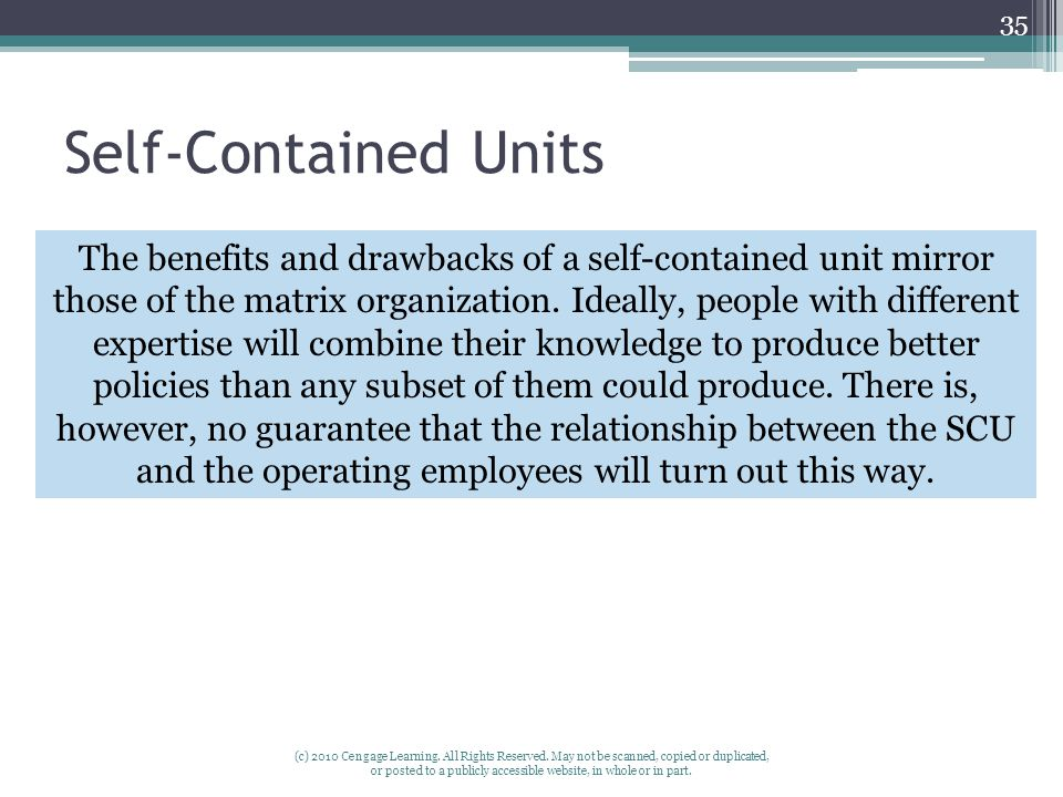 Self-Contained Units