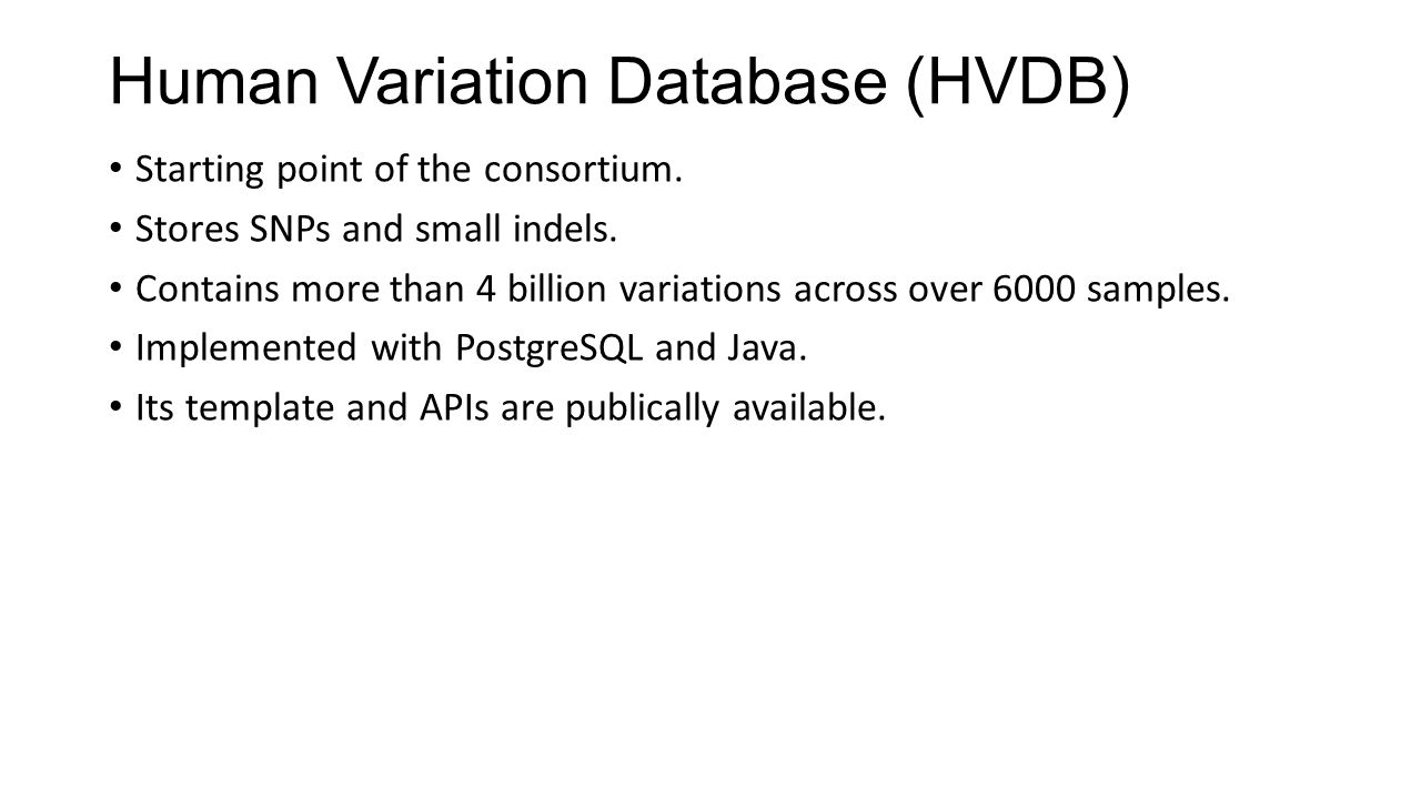 Human Variation Database (HVDB)