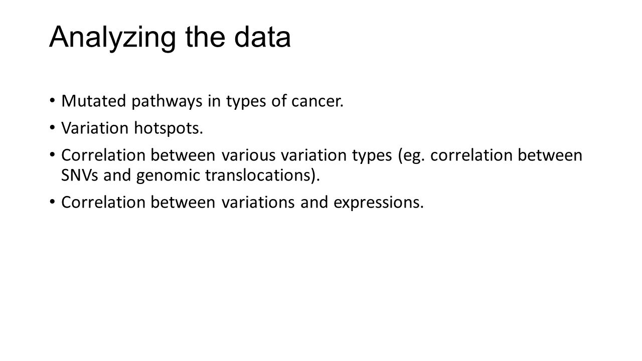 Analyzing the data Mutated pathways in types of cancer.