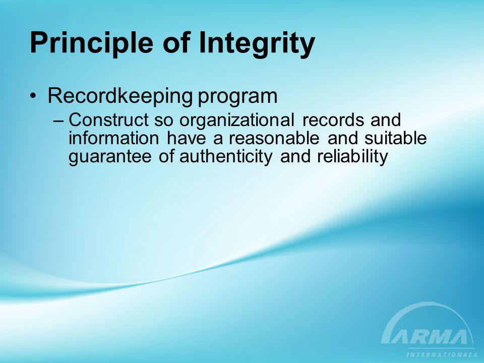 Principle of Integrity