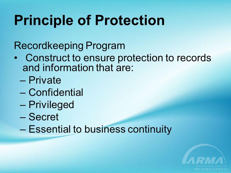 Principle of Protection