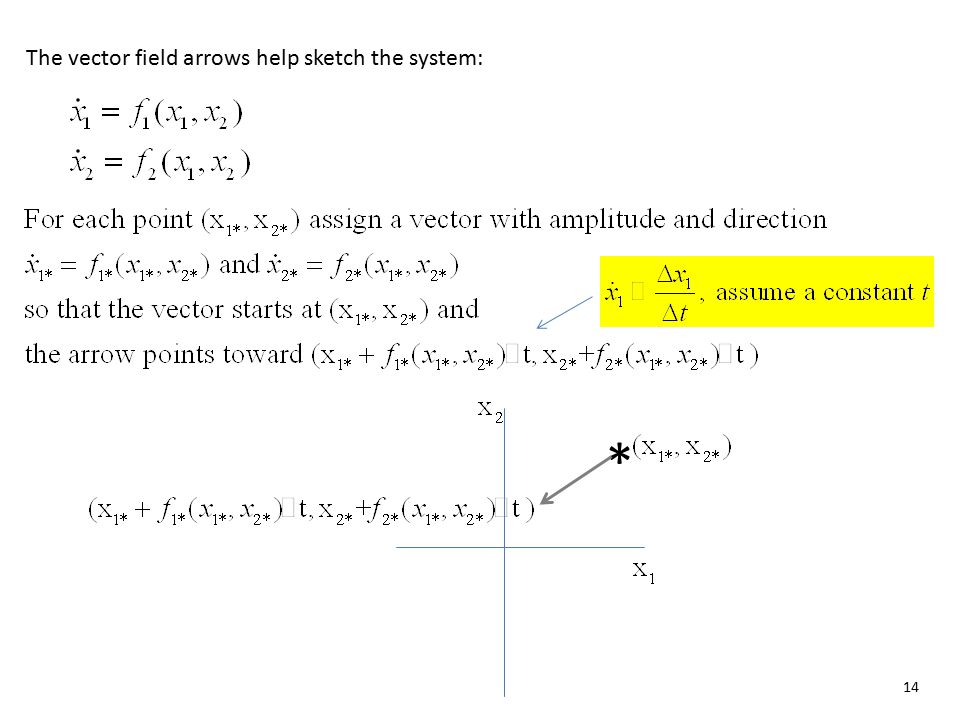 The vector field arrows help sketch the system: