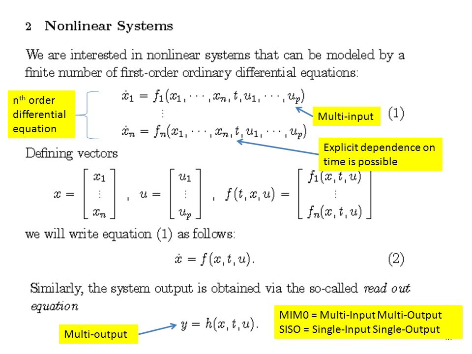 nth order differential equation