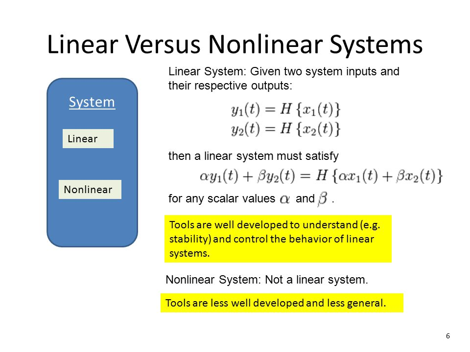 Linear Versus Nonlinear Systems