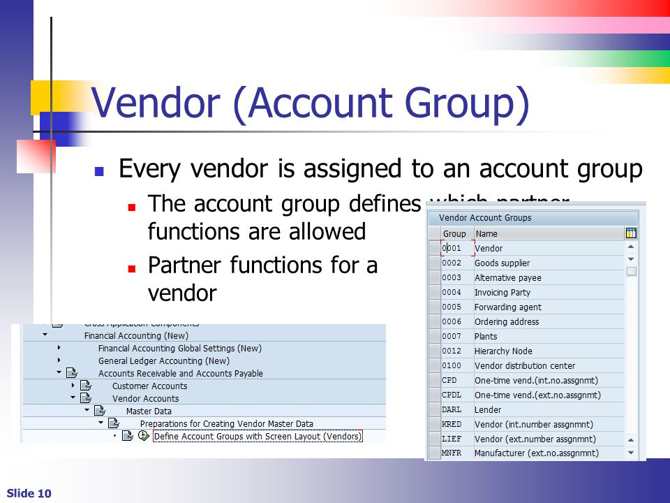 Vendor (Account Group)