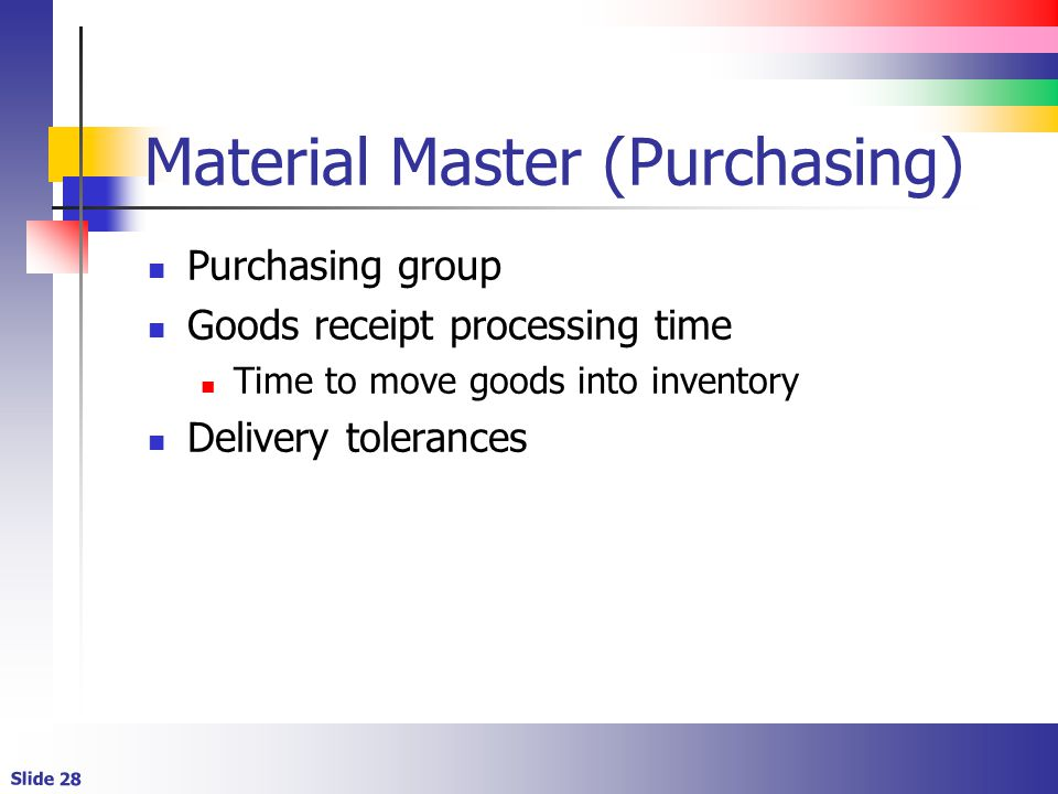 Material Master (Purchasing)