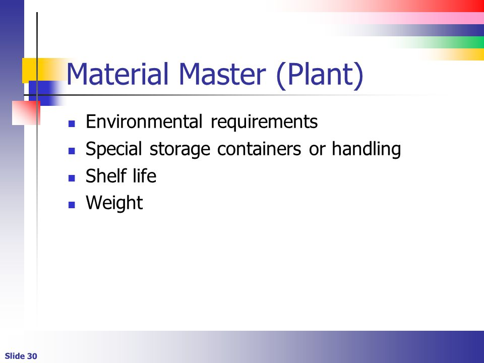 Material Master (Plant)