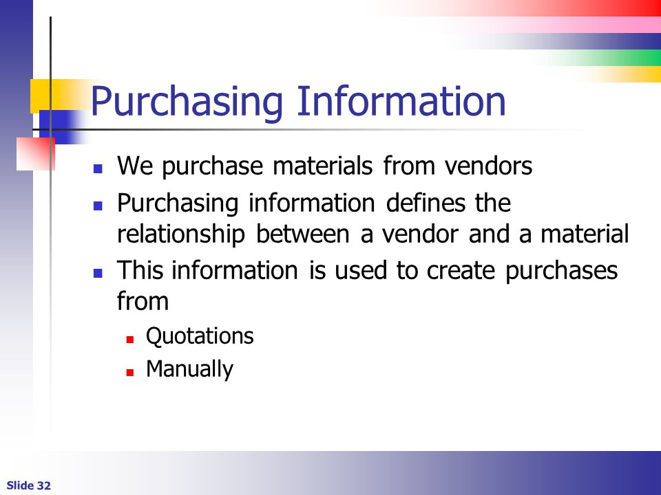 Purchasing Information