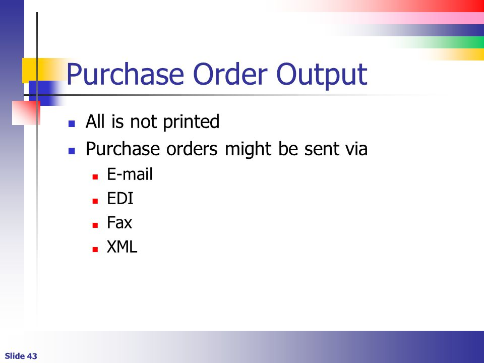 Purchase Order Output All is not printed