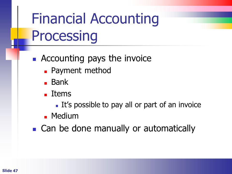 Financial Accounting Processing