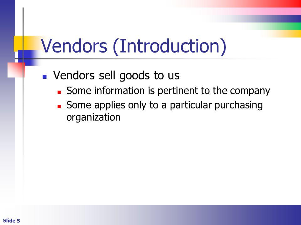 Vendors (Introduction)