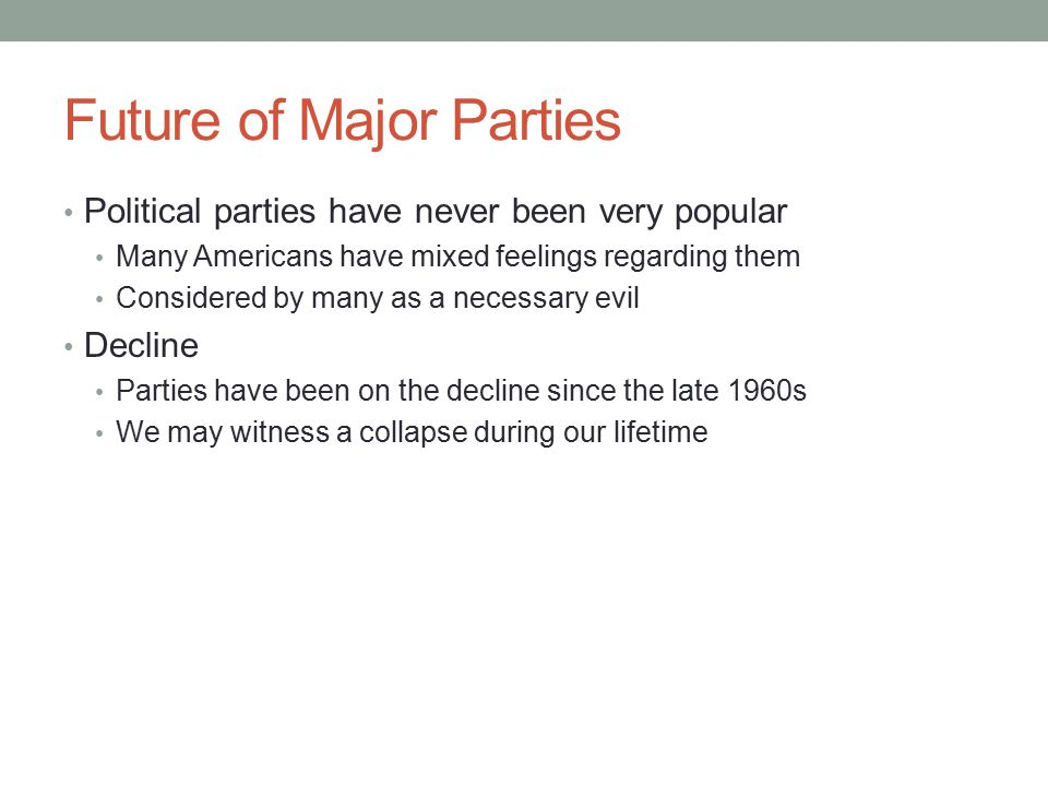 Future of Major Parties