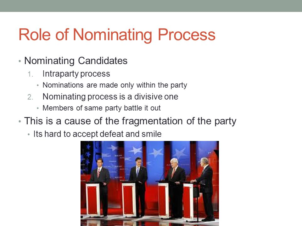 Role of Nominating Process