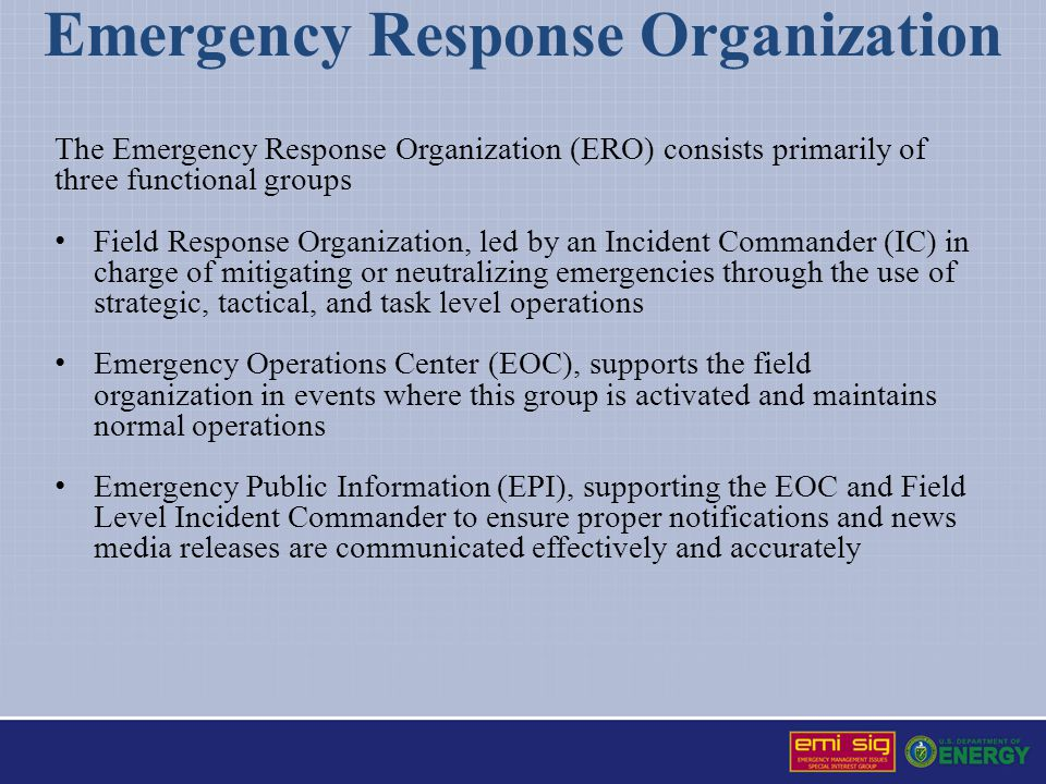 Emergency Response Organization