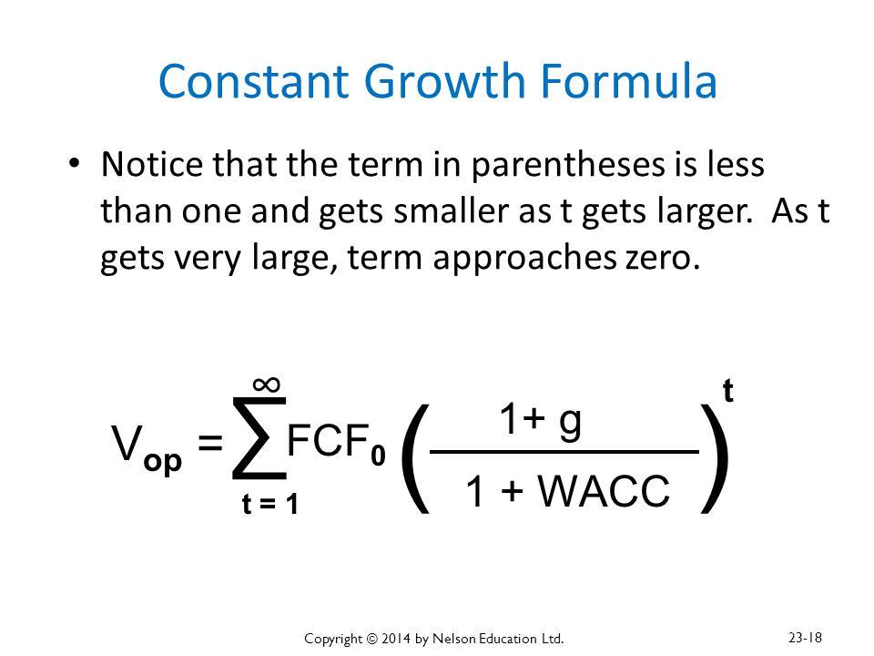Constant Growth Formula