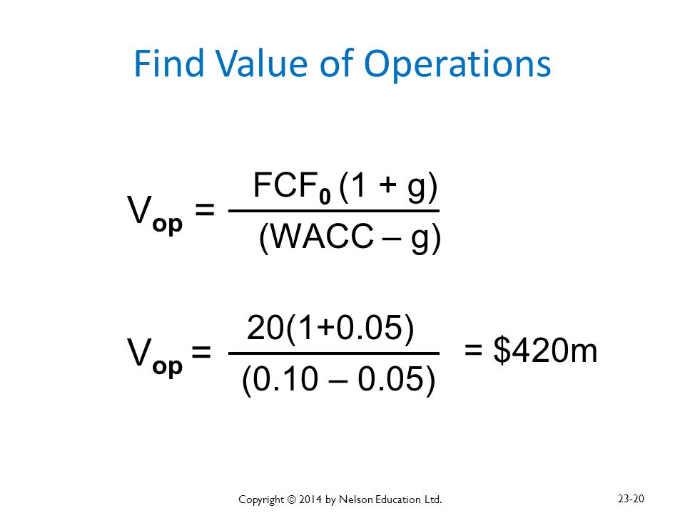 Find Value of Operations