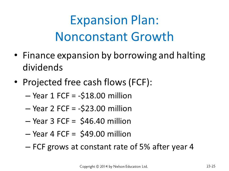 Expansion Plan: Nonconstant Growth