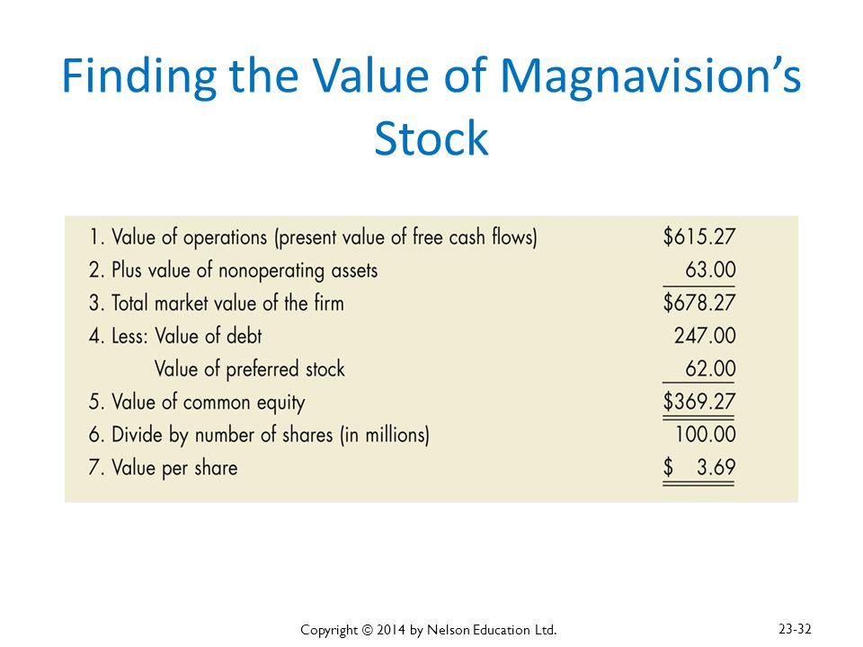 Finding the Value of Magnavision's Stock