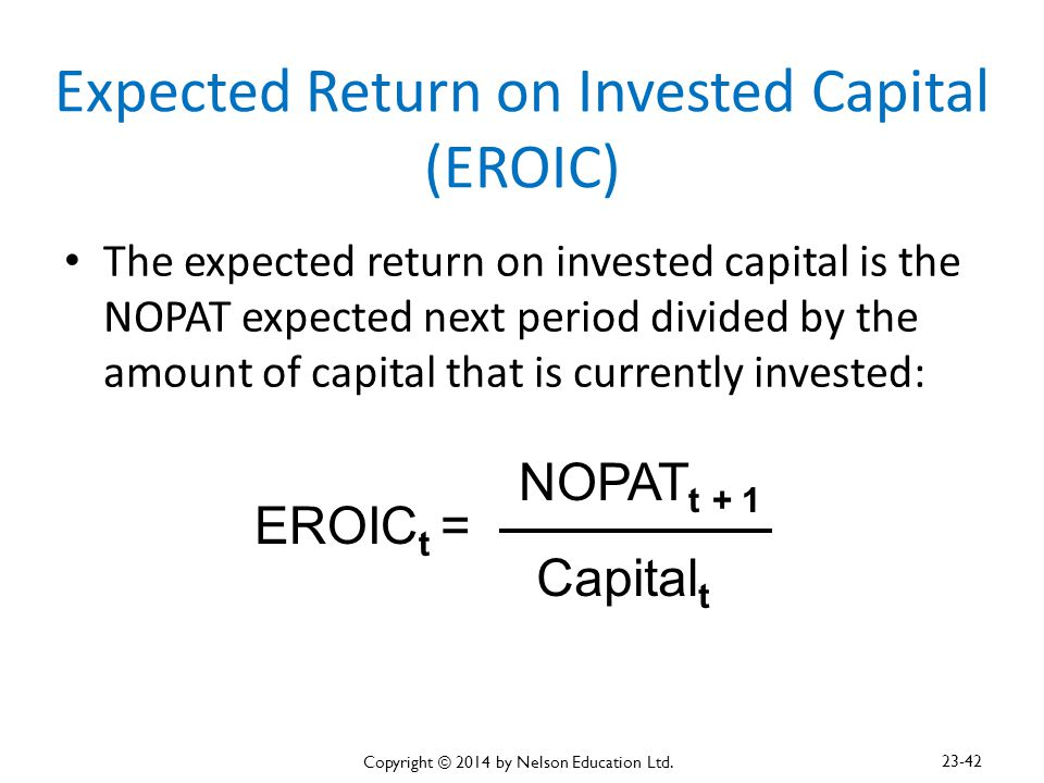 Expected Return on Invested Capital (EROIC)