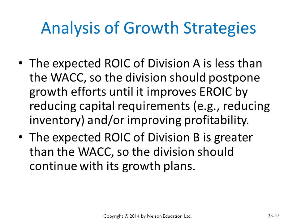 Analysis of Growth Strategies