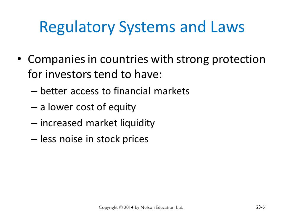 Regulatory Systems and Laws