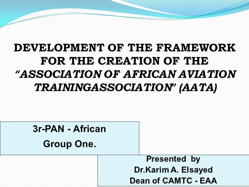 ASSOCIATION OF AFRICAN AVIATION TRAININGASSOCIATION (AATA)
