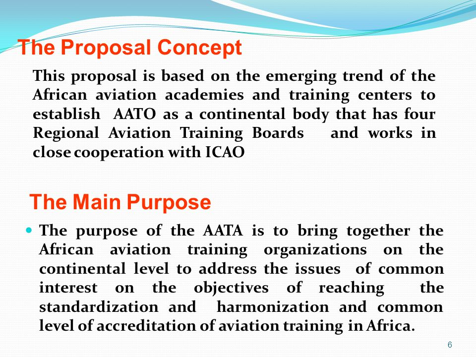 The Proposal Concept The Main Purpose