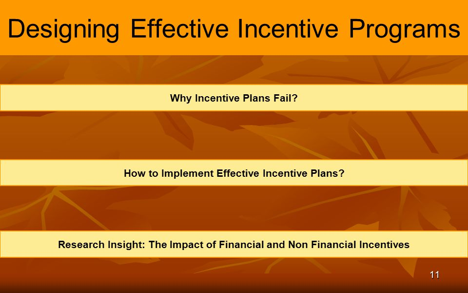 Designing Effective Incentive Programs