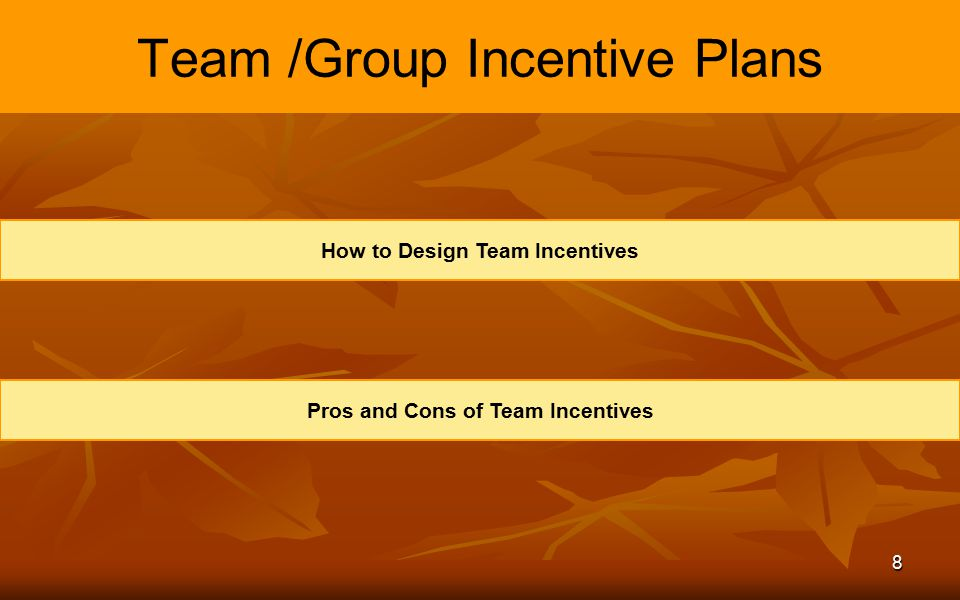 Team /Group Incentive Plans