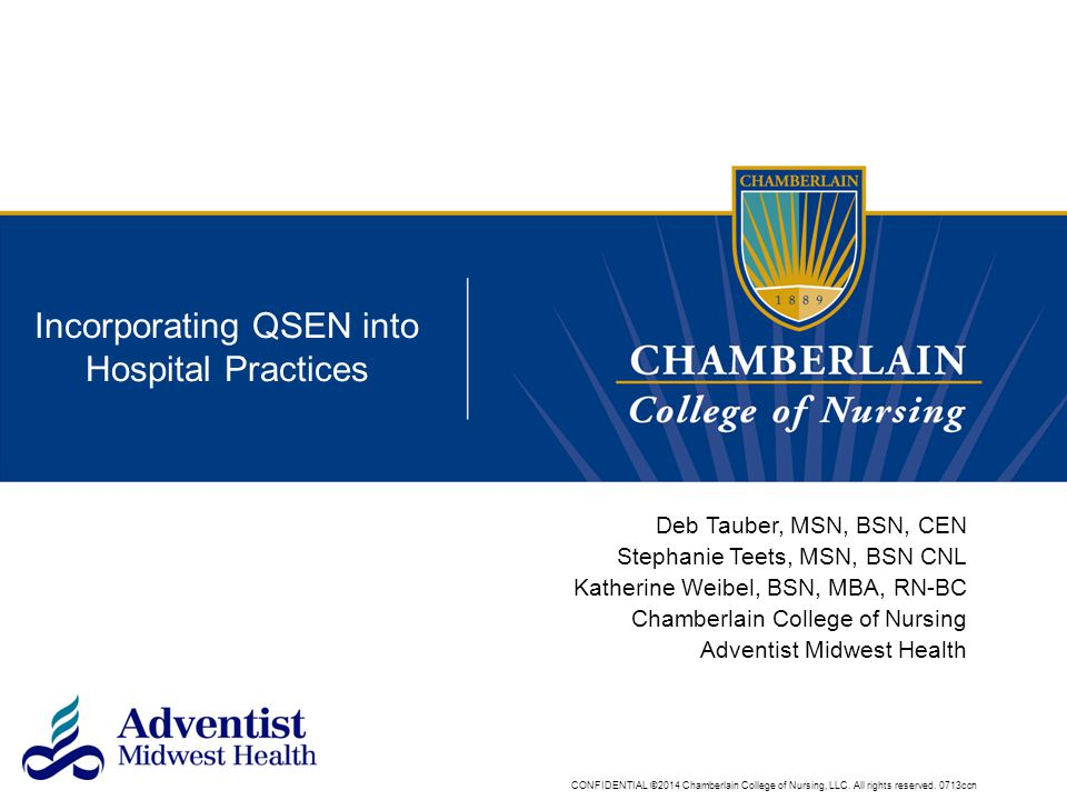 Incorporating QSEN into Hospital Practices
