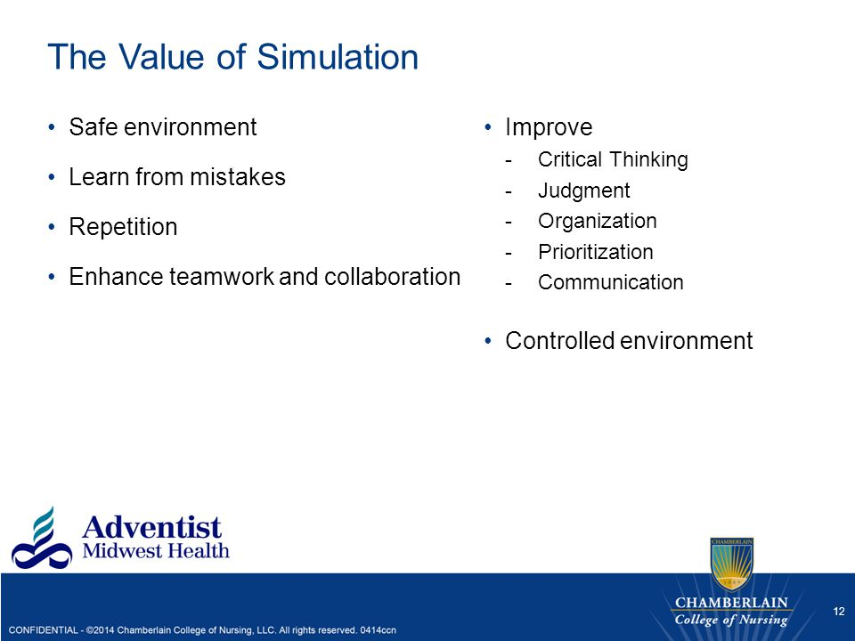 The Value of Simulation