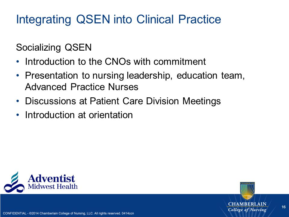 Integrating QSEN into Clinical Practice
