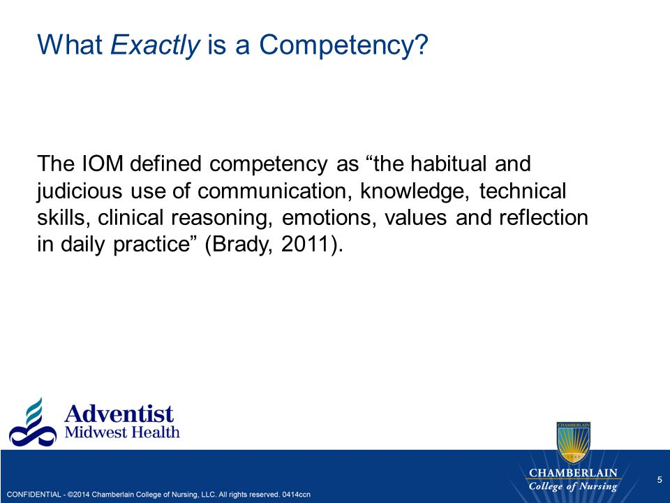 What Exactly is a Competency
