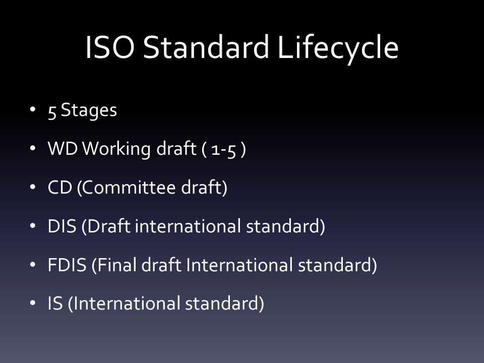ISO Standard Lifecycle