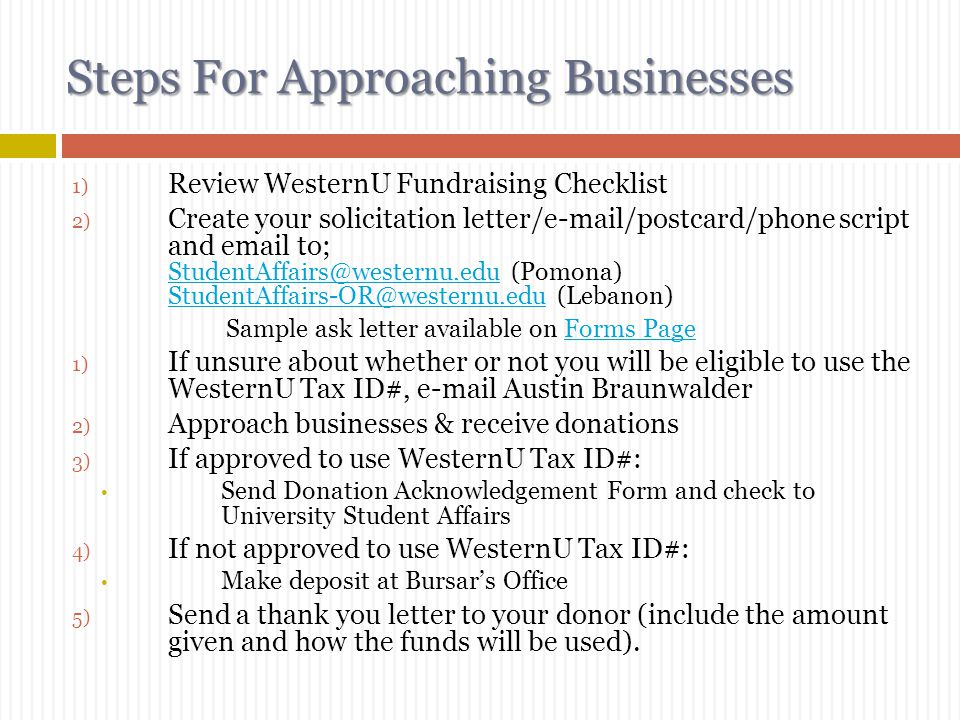 Steps For Approaching Businesses