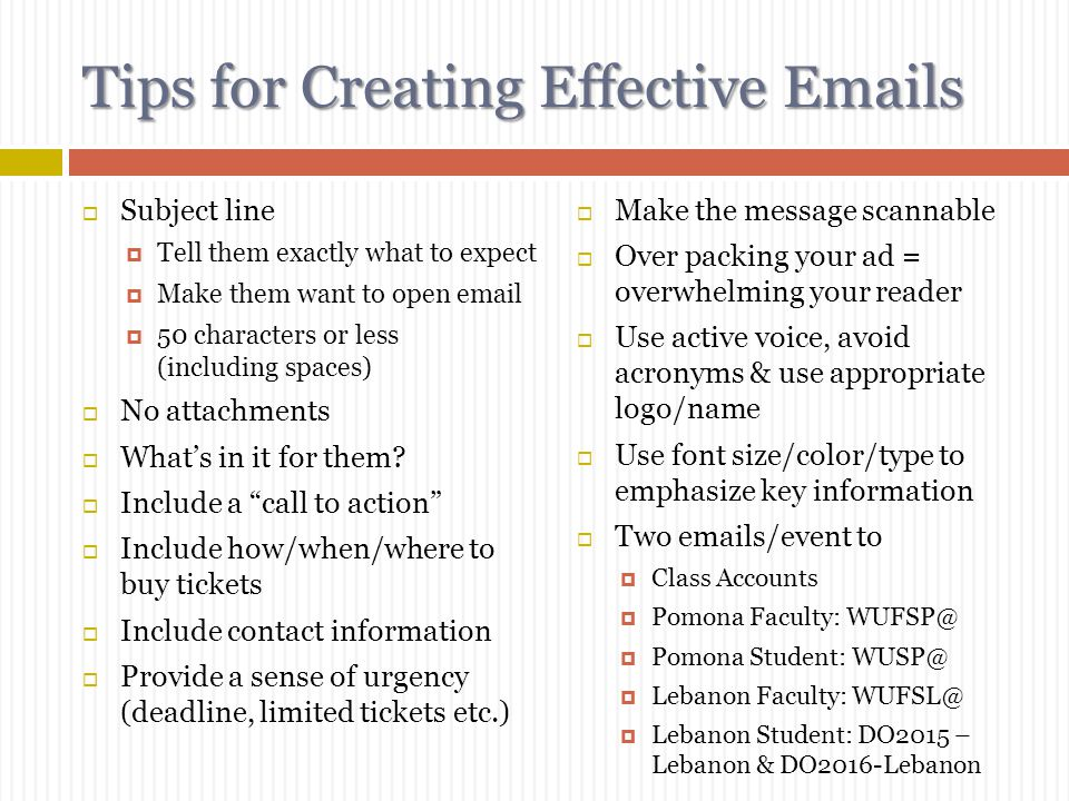 Tips for Creating Effective Emails