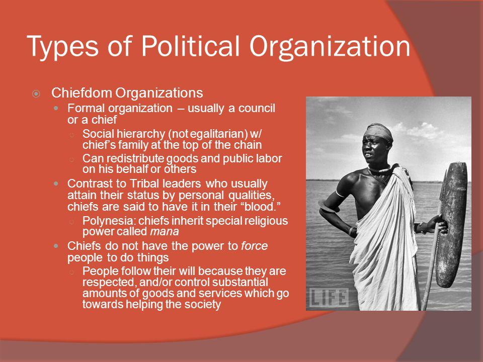 Types of Political Organization