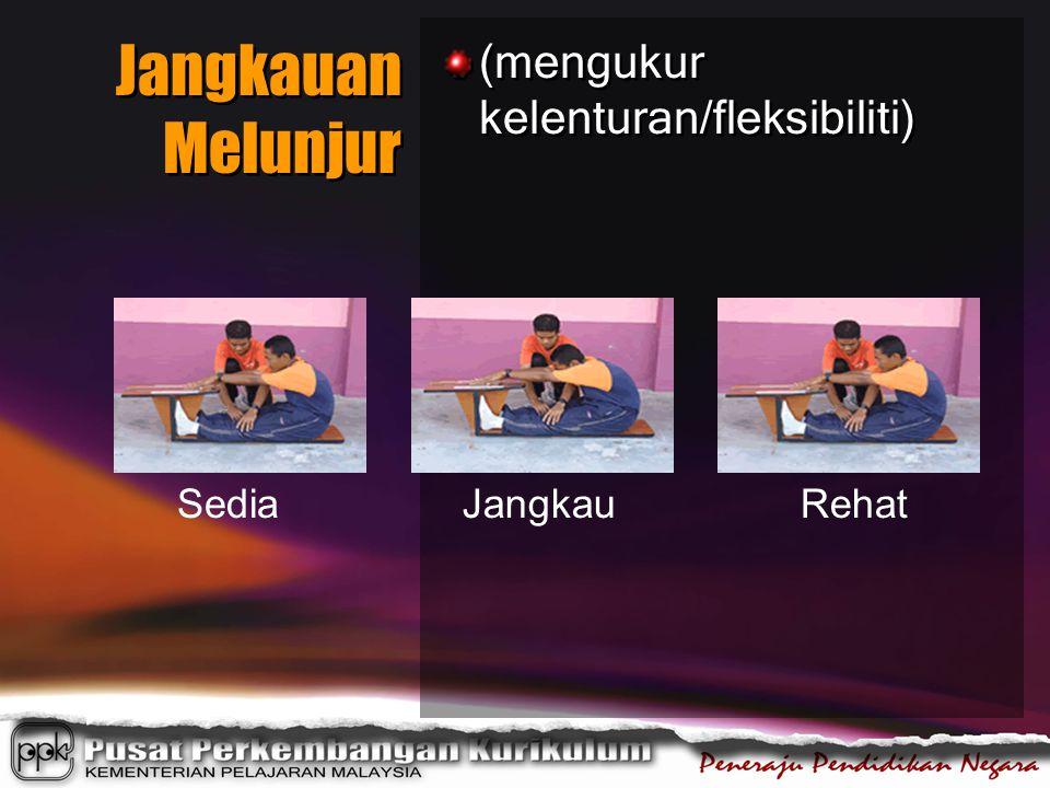 Jangkauan Melunjur (mengukur kelenturan/fleksibiliti) Sedia Jangkau