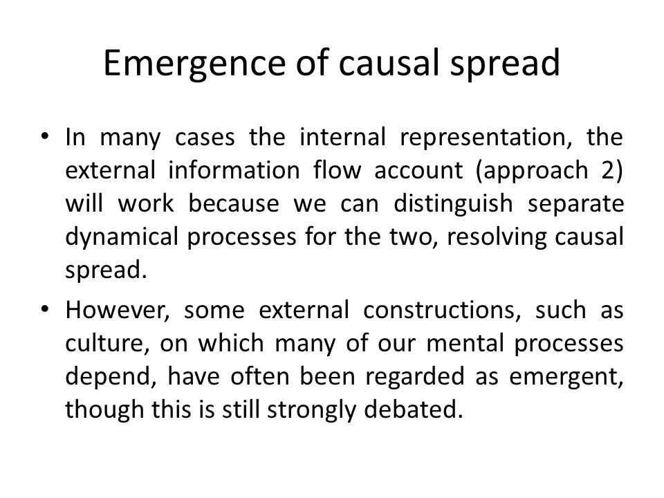 Emergence of causal spread