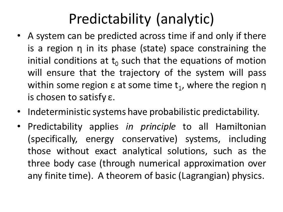 Predictability (analytic)